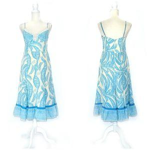 TRACY REESE Paisley Embellished Silk Slip Dress